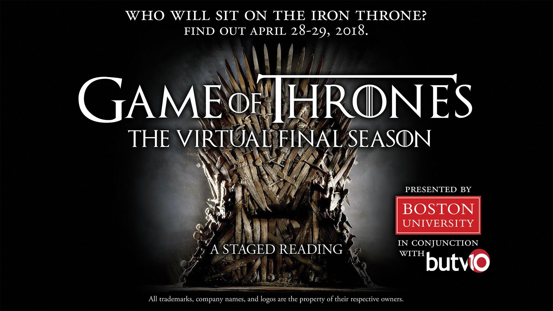 Scripts Game Of Thrones Season 8 From Boston University